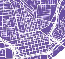 Cincinnati Map - Purple Sticker