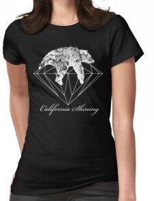 California shining white Womens Fitted T-Shirt