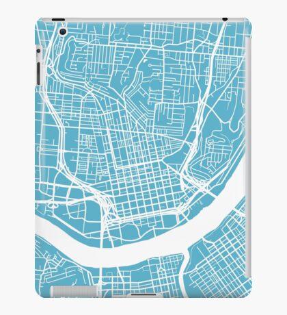 Cincinnati Map - Baby Blue iPad Case/Skin