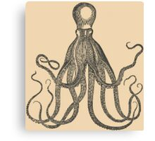 Vintage Natural History Octopus Canvas Print