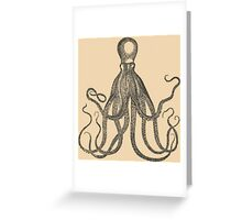 Vintage Natural History Octopus Greeting Card