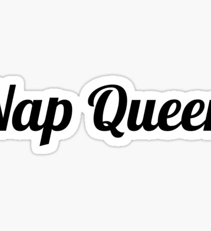 Woman Funny Sleep Nap Queen Sticker