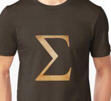 Orange Sigma Symbol Unisex T-Shirt