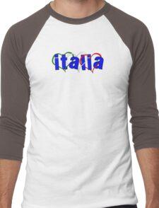 Italian Hearts Men's Baseball ¾ T-Shirt