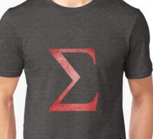Red Sigma Symbol Unisex T-Shirt