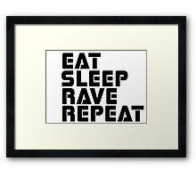 Techno Rave Disco House Trance Party Hard Music Framed Print