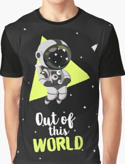 Out Of This World Cute Astronaut Graphic T-Shirt