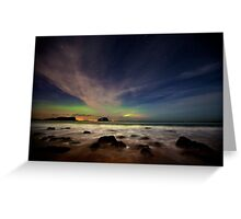 Seacliff Beach Aurora Greeting Card
