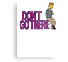 Simpsons - Dont Go There Metal Print
