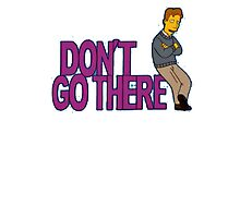 Simpsons - Dont Go There Photographic Print