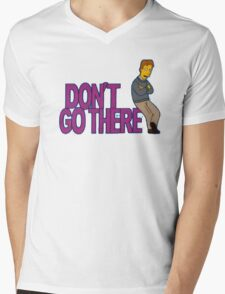 Simpsons - Dont Go There Mens V-Neck T-Shirt