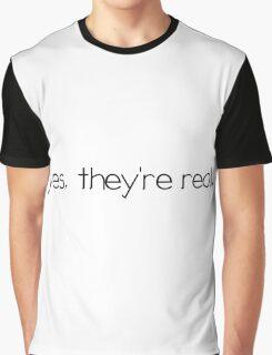Real Fake Boobs Tits Girl Woman Funny Sexy Joke Graphic T-Shirt