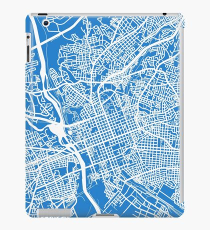 Columbia SC Map - Light Blue iPad Case/Skin