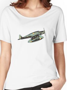 Blue Airplane Women's Relaxed Fit T-Shirt