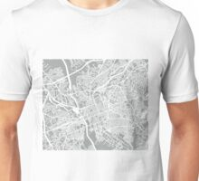 Columbia SC Map - Light Grey Unisex T-Shirt