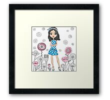 Cute fashion girl  Framed Print