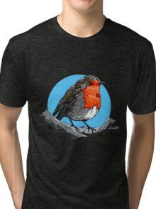 ✝ Satanic Robin ✝  Tri-blend T-Shirt