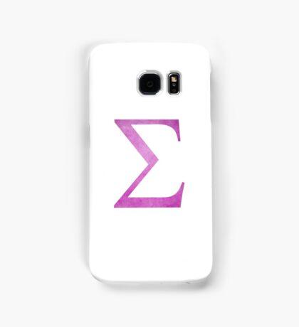 Pink Sigma Symbol Samsung Galaxy Case/Skin