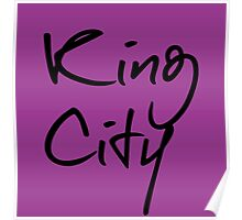 """Welcome To Night Vale """"King City"""" - Purple Poster"""