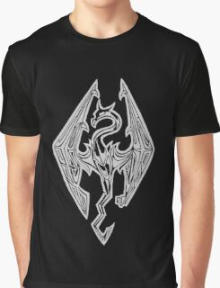 Dragon Symbol Skyrim Graphic T-Shirt
