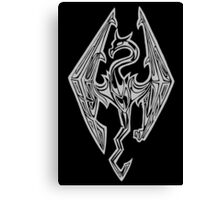 Dragon Symbol Skyrim Canvas Print