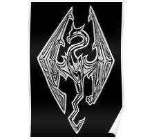 Dragon Symbol Skyrim Poster