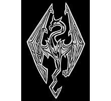 Dragon Symbol Skyrim Photographic Print