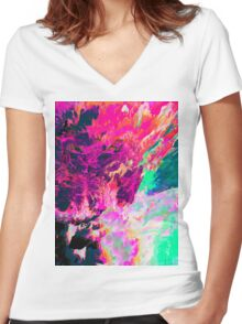 Abstract 42 Women's Fitted V-Neck T-Shirt