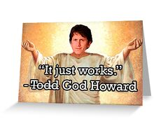 God Howard Greeting Card