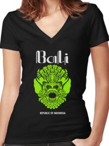 Wonderful Indonesia, Bali Culture Women's Fitted V-Neck T-Shirt