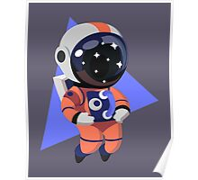 Cute Astronaut Character (Orange) Poster