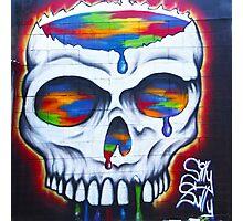 Paint Skull Photographic Print