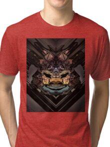 traditional animal samurai  Tri-blend T-Shirt