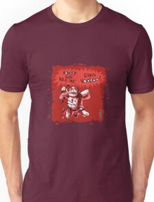 cartoon style voodoo baby with red background Unisex T-Shirt