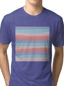 Pantone 2016 Shell Stripes Tri-blend T-Shirt