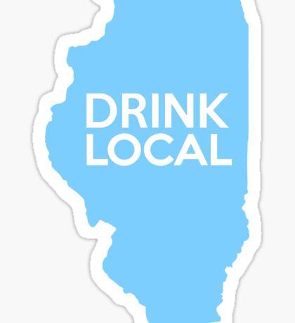 Illinois Drink Local IL Blue Sticker