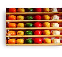 Colorful Dutch Cheese Canvas Print