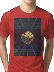 VHS cube Tri-blend T-Shirt