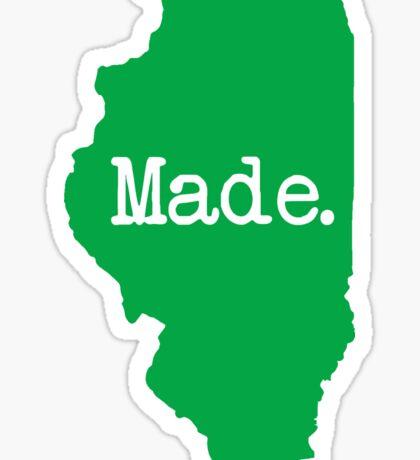 Illinois Made IL Green Sticker