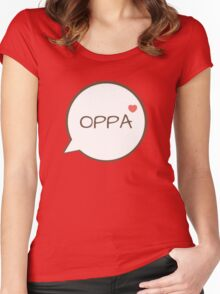 OPPA - Pink Women's Fitted Scoop T-Shirt
