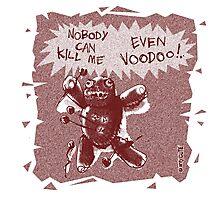 cartoon style voodoo baby  Photographic Print