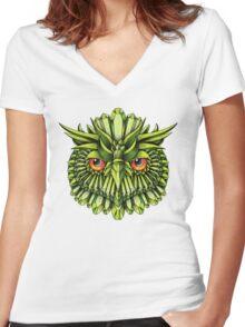 Crystal Owl EDC Women's Fitted V-Neck T-Shirt