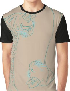 Cat  Sketch 1 & 2 Graphic T-Shirt