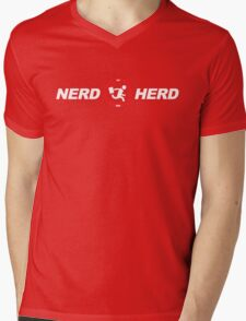 Vintage Nerd Herd Chuck Mens V-Neck T-Shirt