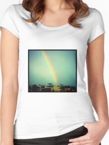 city rainbow Women's Fitted Scoop T-Shirt