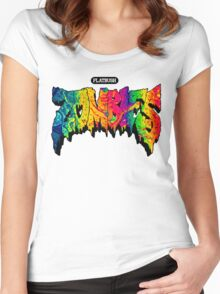 Flatbush Zombies Acid Trip Women's Fitted Scoop T-Shirt