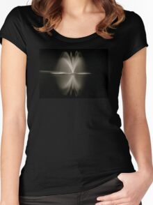 Fountain at Night Women's Fitted Scoop T-Shirt