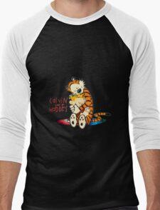 Calvin and Hobbes Big Hugs Nebula  Men's Baseball ¾ T-Shirt