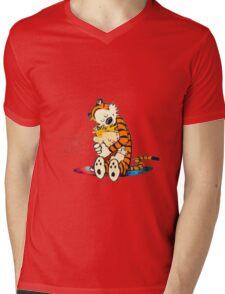 Calvin and Hobbes Big Hugs Nebula  Mens V-Neck T-Shirt