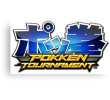 Pokken Tournament Logo Canvas Print